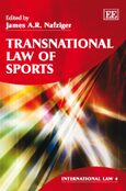 Cover Transnational Law of Sports