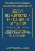 Cover Recent Developments in the Economics of Tourism