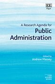 Cover A Research Agenda for Public Administration