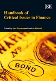 Cover Handbook of Critical Issues in Finance