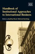 Cover Handbook of Institutional Approaches to International Business