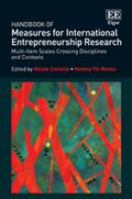 Cover Handbook of Measures for International Entrepreneurship Research